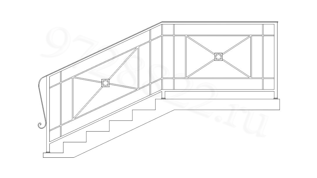 Ограждения лестниц.